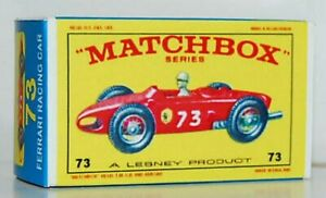 Matchbox-Lesney-No-73-FERRARI-RACING-CAR-style-E-Repro-empty-Box