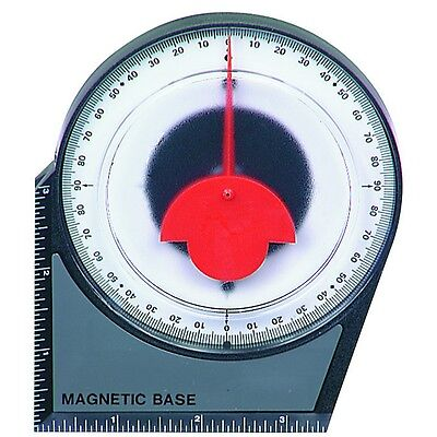 Dial Gauge Angle Finder Magnetic Protractor with Conversion Chart