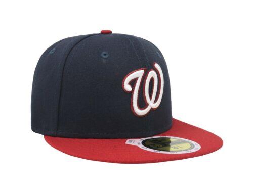 Details about  /New Era 59Fifty 70360214 Cap Washington Nationals Alternate Kids Navy Red Hat