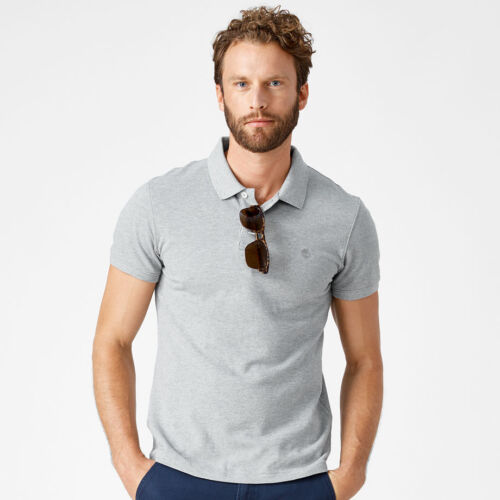 Timberland Men/'s Short Sleeve Pique Summer 100/% Cotton Polo Shirt 8743J