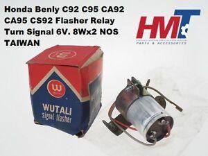 Honda-Benly-C92-C95-CA92-CA95-CS92-Indicator-Flasher-Relay-Turn-Signal-6V-NOS-TW