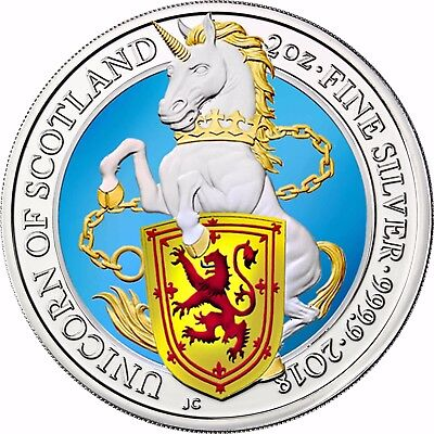 Ausdrucksvoll Großbritannien 5 Pfund 2018 Queen's Beasts Einhorn Von Schottland In Farbe GüNstige VerkäUfe
