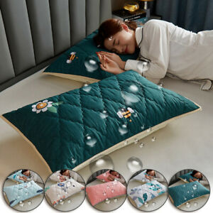 1x-Waterproof-Antibacterial-Anti-mite-Pillow-Case-Pillow-Cover-Bedding-48x74cm