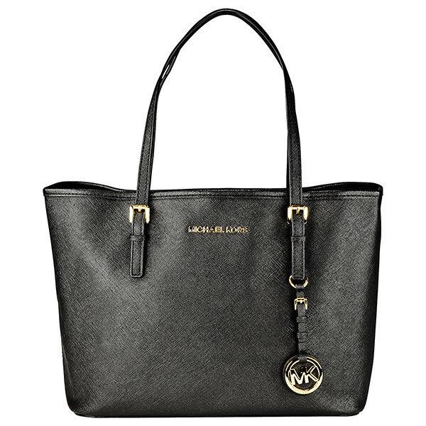 Michael Kors Jet Set Small Travel Tote Handbag in Black