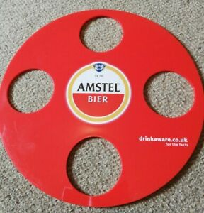 6-X-AMSTEL-BIER-4-X-1pt-GLASS-CARRIER-TRAYS
