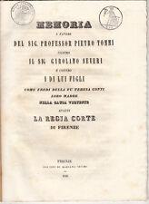 CAUSA TOMMI CONTRO SEVERI AFFITTO TENUTA CIVITELLA PROVA TESTIMONIALE 1846