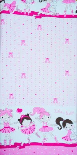 BABY FITTED COT SHEET 100/% COTTON MATTRESS 120x60cm Ballerina Pink