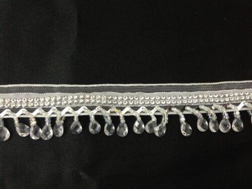 Cortina De Cuentas De Cristal Lágrima ciegos recorte Flecos Ribete de Encaje yarda 1 X 35mm