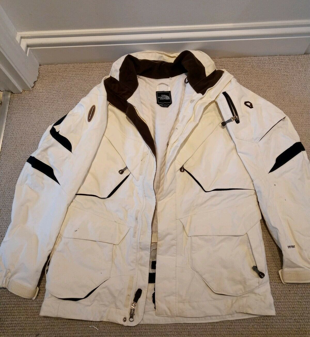 The North Face Recco Ski Mountain Jacket Coat Weiß Mens Small Without Hood
