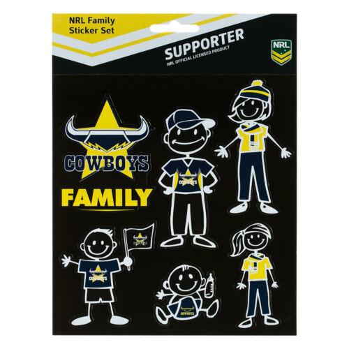 Licensed NRL North QLD Cowboys FAMILY Car Sticker Sheet Christmas Birthday Gift.