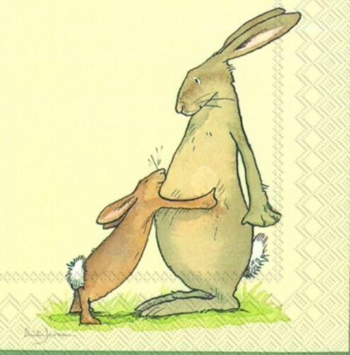 Decoupage Papel Servilletas//3ply//Bunny Conejo,//Para Decoupage//elaboración de tarjetas x 2