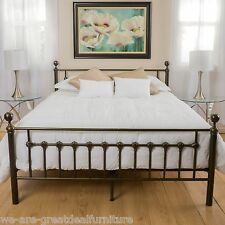 bradford cal king dark copper gold bed frame