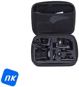 NK Kit Camara Acción 720P con 17 Accesorios - Camara Deportiva 720p, HD, negra