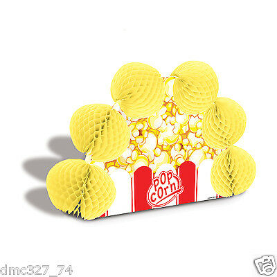 Carnival Circus Movie Night Party Table Decoration Pop Over POPCORN CENTERPIECE