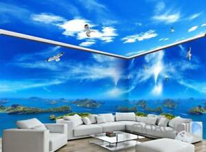 Image Is Loading Island View Segull Blue Sky Ceiling Entire