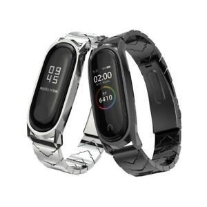 Wrist-Band-4-Strap-Metal-Stainless-Steel-Compatible-Fitness-Bracelet-Xiaomi-Mi