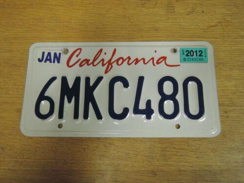 """A grade California Cursive /""""Lipstick/"""" Style License Plate GOOD CONDITION"""