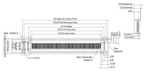 5 V bleu 40x2 4002 LCM Character LCD Module d/'affichage avec tutoriel HD44780 lunette