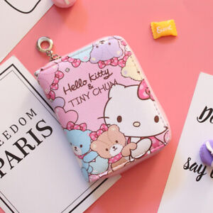 Hello-kitty-wallet-purse-pink-lovely-gift-present-cards-Japan-hand-bag