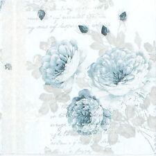 4x Paper Napkins for Decoupage Decopatch Craft Blue Flowers