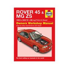Rover 45 MGZS 1.4 1.6 1.8 Petrol 2.0 TD 99-05 (V to 55 Reg) Haynes Manual