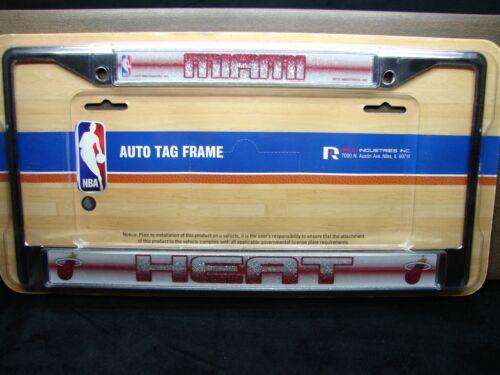 Miami Heat Metall Chrom Auto Kennzeichen Rahmen NBA Miami Heat Basketball
