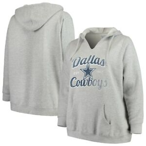 a0103ca5f Image is loading Dallas-Cowboys-Majestic-Women-Plus-Pullover-Hoodie-Heather-