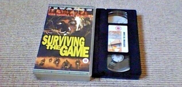 Surviving The Game UK PAL VHS VIDEO 1995 Ice-T Rutger Hauer Gary Busey