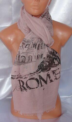 SCARF rosa antico Roma SCIARPA FOULARD Pareo ESTATE MARE uomo,donna,unisex