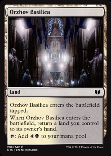 English Commander 2015 MTG Magic 4x Orzhov Basilica NM-Mint