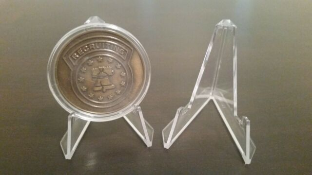 """~12 Best Value 1-1//2/"""" Display Stands For Challenge Coin Coins Air-Tite Capsule"""