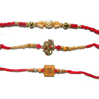 Rakhi Armband Om Muster 2 Raksha bandhan PORTOFREI Wickelarmband Schmuck