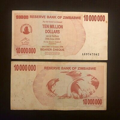 World Currency P-57 ZIMBABWE 50 Million Dollars Bearer Cheque 2008