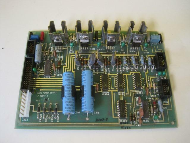 PERKIN ELMER CP 20897 0 REV 4 CP 20898 0 LOGIC POWER SUPPLY CIRCUIT BOARD 552