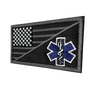 star-of-life-EMS-EMT-paramedic-subdued-ACU-morale-toppa-hook-and-loop-patch