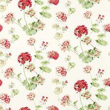 LAURA ASHLEY - Geranium - Cranberry - floral wallpaper - 2 Rolls - NEW - RRP £80
