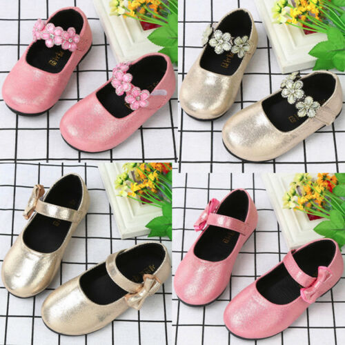 Kids Toddler Girl Party Pricness Dress Shoes Leather Moccasin Soft Sneakers