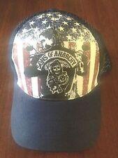 Authentic Sons Of Anarchy Jax Usa American Flag Soa Biker Samcro Trucker Hat Cap
