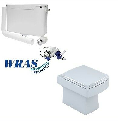 Square Back To Wall Toilet With Soft Close Seat & Cistern (1008+007)