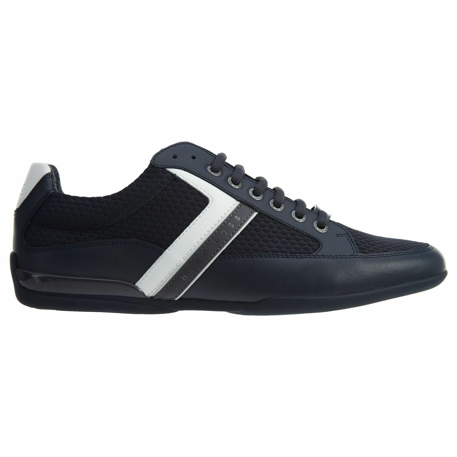 Hugo Boss Space Low Mens 50374603-401 Dark bluee Leather Mesh shoes Size 13