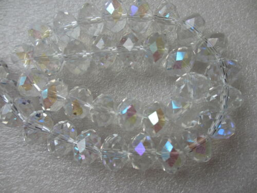 14mm 45 Beads Beautiful Faceted Rondelle Glass Crystal in Loose BUY 1 GET 1 FREE