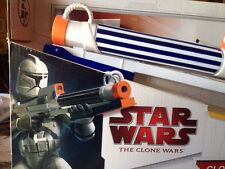 STAR WARS Clone Trooper Nerf Dart Gun Blaster Rifle Hasbro Laser Sights 2006