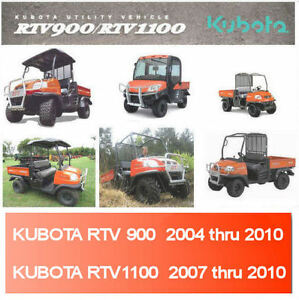 kubota rtv 1100 900 factory digital service manual repair 2004 thru rh ebay com  kubota rtv1100 fuse panel location