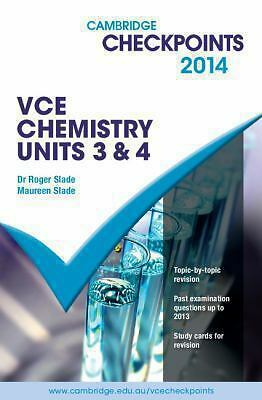 1 of 1 - Cambridge Checkpoints VCE Chemistry Units 3 and 4: 2014 by Roger Slade, Maureen