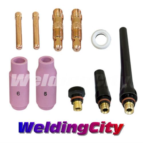 "Regular Setup Torch 17//18//26 T8 0.040/"" TIG Welding Accessory Kit US Seller"