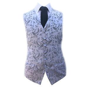 A74 Burgundy Red Check Waistcoat Vest Wedding Formal UK Men/'s