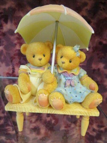 "NIB /""CARTER /& ELSIE/""-We/'re Friends Rain or Shine Cherished Teddies #302791"