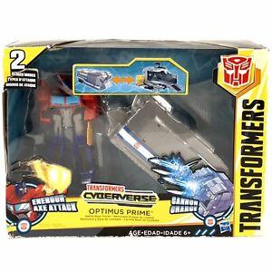 Transformers Cyberverse Warrior Class Optimus Prime w/ Battle Base Trailer