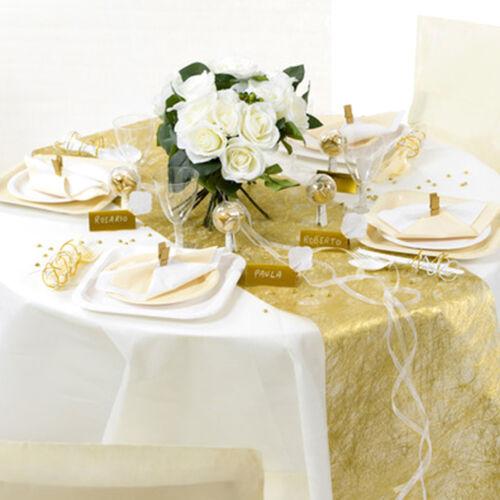 Tischläufer Fanon 30 cm x 5 m fuchsia Tischband Tischdeko Dekostoff Hochzeit