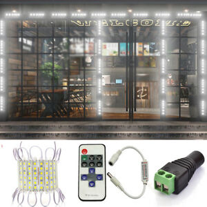 Remote-US-White-6-LED-Super-Bright-Waterproof-5054-SMD-Module-Light-Sign-Lamp